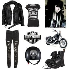 Excellent Harley davidson bikes images are readily available on our internet site. look at this and you wont be sorry you did. Biker Chick Costume, Biker Chick Outfit, Biker Outfits, Harley Davidson, Biker Wear, Black Ankle Booties, Black Boots, Rocker Chic, Lady Biker