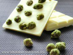 Weiße Schokolade mit Wasabi Peanuts