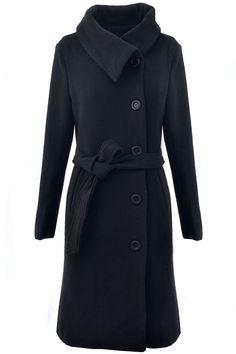 Graceful Long Woolen Coat
