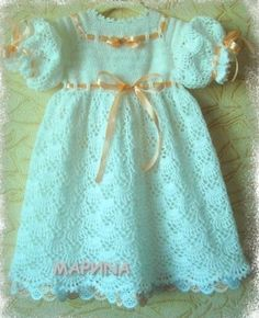 Free Crochet Baby Dress Patterns   ... For Baby / Princess Dress free tutorial and crochet graph pattern