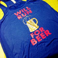 Will run for beer by CrankDatDesigns on Etsy