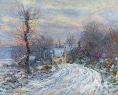 L'Entrée de Giverny en hiver (C Monet - W 967),1885.