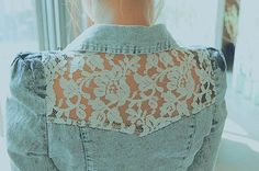lace & denim shirt