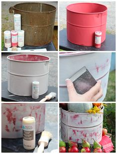 How to use chalk paint on a metal surface