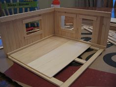 Almost Unschoolers: Basswood and Popsicle Stick Doll House (Man of the House Style)