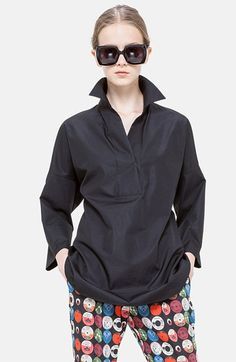 Akris punto Cotton Poplin Tunic available at #Nordstrom