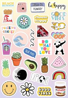 Stickers Cool, Cute Laptop Stickers, Tumblr Stickers, Phone Stickers, Journal Stickers, Printable Stickers, Planner Stickers, Decorative Stickers, Snapchat Stickers