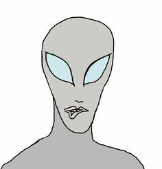 The female alien gave me a seductive lip bite