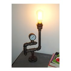 Pipe style Edison Bulb industrial Upcycled by HandMadeProjects4u