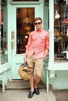 Resultado de imagen para coral shirt outfit men
