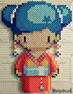 Geisha Girl Misaki perler beads  by PerlerPixie