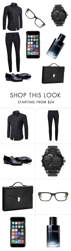 """""""damn"""" by typical-slytherin-girl ❤ liked on Polyvore featuring Topman, Diesel, Montblanc, Tom Ford, County Of Milan, Christian Dior, men's fashion and menswear"""