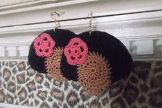 Mocha Pink Flower Afro Chick by CarolinesGrayce on Etsy, $8.00
