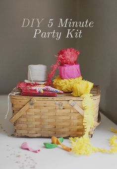 DIY 5 minute birthday party kit