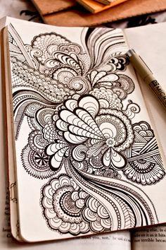 pretty ink pen design sketch