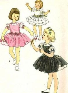 Simplicity 2716 Girls Party, Flower Girl Dress and Jumper Vintage Sewing Pattern Size 4 (Breast 23) Vintage Wedding