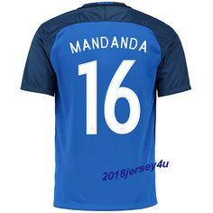 Steve Mandanda 16 UEFA Euro 2016 France Home Jersey