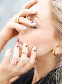Love her nails.