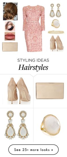 """""""Sparkly Dress <3"""" by muppets-cookie-monster on Polyvore featuring Elie Saab, Victoria Beckham, Maybelline, Kate Spade and Ippolita"""