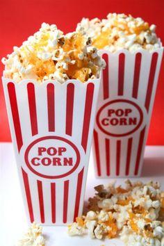 Healthy after school snacks - including the fabulous cheesy popcorn Homemade Popcorn Recipes, Flavored Popcorn, Butter Popcorn, Popcorn Stand, Popcorn Snacks, Sweet Popcorn, Cheesy Recipes, Baby Food Recipes, Snack Recipes