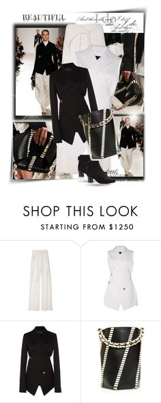 """""""Fall Black and White"""" by fl4u ❤ liked on Polyvore featuring Proenza Schouler and Dolce&Gabbana"""