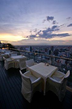 Vertigo open-air rooftop lounge in Bangkok, Thailand (by chillveers15)