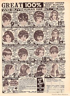 1970 wigs remember these ads in the back of magazines? Vintage Ads Food, Vintage Advertisements, Afro Hair Care, School Memories, Retro Hairstyles, Big Hair, Art Music, Black History, Rock And Roll
