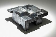 Studio Nucleo, Black Resin Fossil coffee table (large)