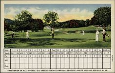 The Greenbrier -golf course scorecard from 1937