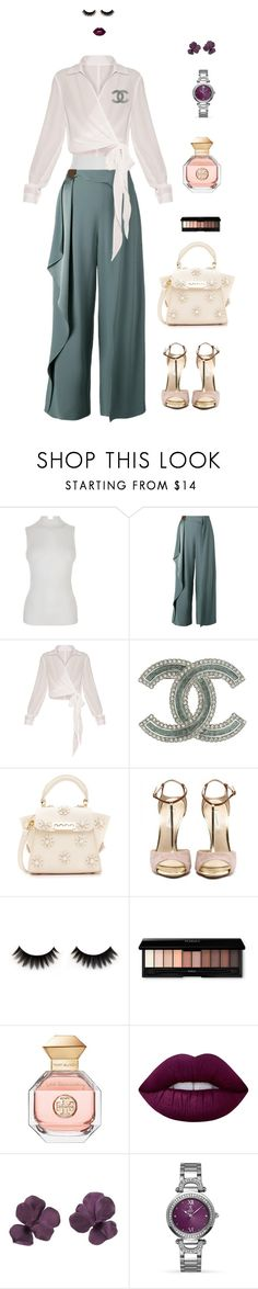 """N Animals"" by leina-elansary on Polyvore featuring Fendi, Chalayan, Chanel, ZAC Zac Posen, Tory Burch, Lime Crime and Allurez"