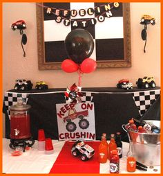 Monster Truck Theme  (insane amount of party details some people do for their little ones!)