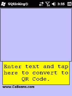 GQRInking©  This is a ink writer based QR code composer. Use the stylus to create the text message and when you tap on the button the program will convert the text into a QR code and allows you to view the image in your image viewer. The Text -> QR code service is provided by www.Google.com  http://cebeans.com/gqrinkingp.htm