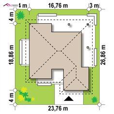 Z378 to wyjątkowy dom z kategorii projekty domów jednorodzinnych Modern House Plans, Modern House Design, 4 Bedroom House Designs, House Plans Mansion, Concept Home, Home Design Plans, Design Case, Bungalow, My House
