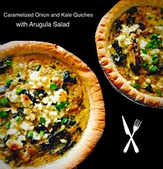 Kale Quiches, Salad Quiche, 1 Yellow, Yellow Onion, Onion 1, Small Pie ...