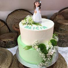 tarta buttercream mint y blanco, floral.