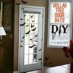 DIY Dollar Tree Halloween Printable Bat Silhouette Door #ValueSeekersClub @savedbyloves