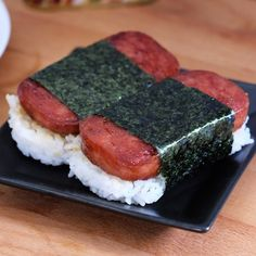 Thai-Style Crispy Pork Belly | Bear Naked Food Spam Recipes, Cooking Recipes, Sushi Recipes, Spam Musubi, Good Food, Yummy Food, Delicious Recipes, Pork Belly Recipes, Crispy Pork