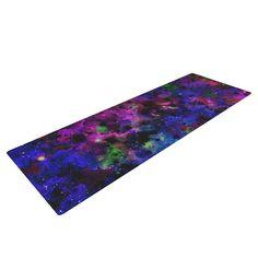 "Ebi Emporium ""Color Me Floral"" Celestial Blue Yoga Mat"