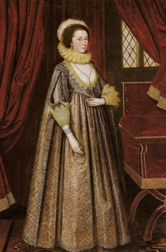 1620 Magdalen Pultney, later Lady Aston by Marcus Gheeraerts the Younger