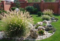 41 Relaxing Modern Rock Garden Ideas To Make Your Backyard Beautiful - Garten Ideen Landscaping With Rocks, Front Yard Landscaping, Landscaping Ideas, Landscape Design, Garden Design, Garden Ideas To Make, Easy Garden, Garden Pictures, Garden Planning
