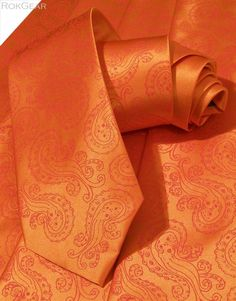 Octo-Paisley :)   Mens Octopus Necktie orange tie orange ink octopus by RokGear on #Etsy