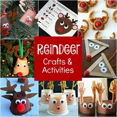 Creative Reindeer Crafts, Learning Activities, and Snacks for Kids. Fun Christmas ideas!