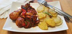 Kuře se zeleninou na omáčce piri piri Piri Piri, Paleo Whole 30, Tandoori Chicken, Whole30, Chicken Wings, Lowes, Low Carb, Meat, Ethnic Recipes