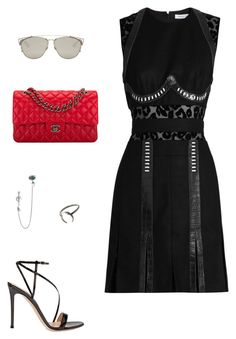 """""""Untitled #525"""" by mechi13 on Polyvore featuring Thierry Mugler, Gianvito Rossi, Chanel, Christian Dior and Alexander McQueen"""
