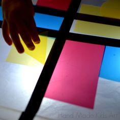 Make your own lightbox -storage bin -lights -white tissue paper -cut up plastic dividers www.handmadekidsart.com