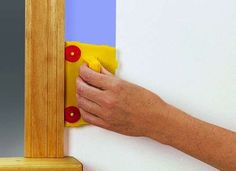 A paint pad can make cutting in around windows and molding a quicker, neater job, allowing you to eliminate some masking. You can also remove a paint pad head from its applicator and hot glue it to a paint stick to create a super-flat painting tool that will reach tight spaces, like behind a toilet tank.