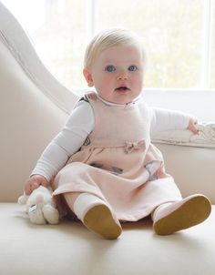 Time to play! 🎎 The Diana Collection - Elegant Pink Tartan Baby Pinafore Dress So Cute Baby, Mom And Baby, Cute Kids, Cute Babies, Baby Kids, Blonde Baby Girl, Blonde Babies, Tartan, Top Mode