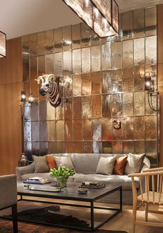 Rosewood London Living Room Art || Image courtesy of Rosewood London