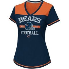 Chicago Bears Women's Champion Swagger V-Neck T-Shirt - Navy Blue