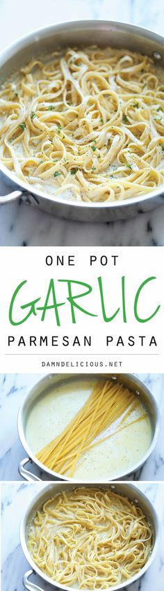 One Pot Garlic Parmesan Pasta - Damn Delicious